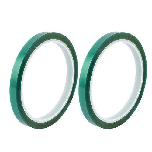 sourcingmap-2pcs-8mm-width-33m-long-green-pet-high-temperature-heat-resistant-pcb-solder-tape