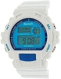 Bench BC0416BLWH - Reloj unisex, correa de plástico color blanco