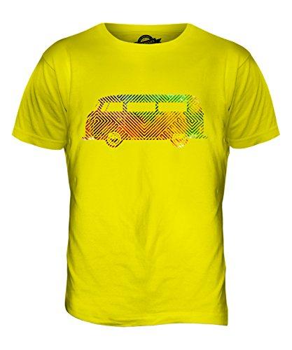 CandyMix Bunte Wohnmobil Herren T Shirt Zitronengelb