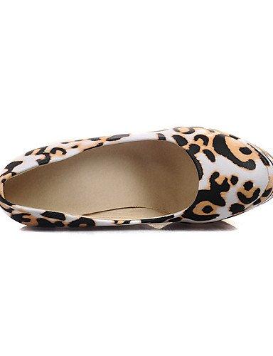 WSS 2016 Chaussures Femme-Mariage / Soirée & Evénement / Habillé / Décontracté-Noir / Jaune-Talon Compensé-Compensées-Talons-Matières black-us5 / eu35 / uk3 / cn34