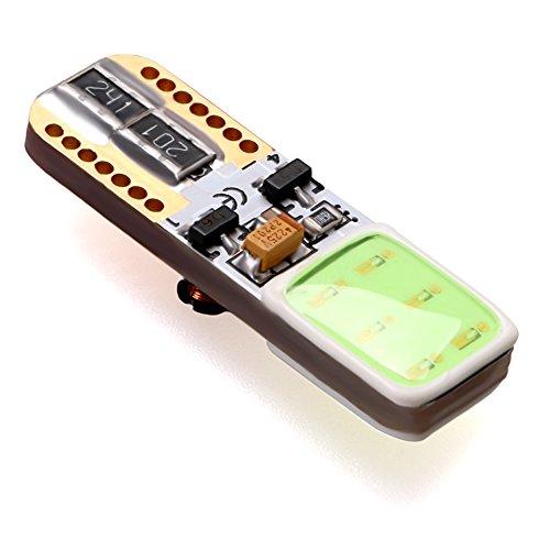 Lumiplux T10 W5W 168 194 12V Glace Bleue LED Ampoule de Voiture COB(Pack de 2)