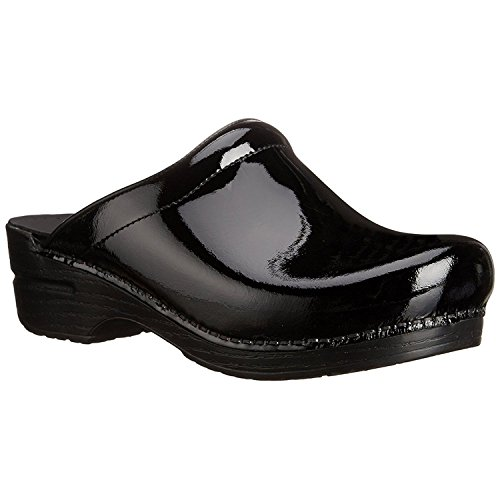 Dansko Sonja Women Mules and Clogs Shoes, BlackPatent, Size - 39