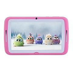 Idea Regalo - Tablet per bambini 7 pollici, Android 7.1 OS, iWawa Pre-Installed, Quad Core, HD Touch Screen, 1 GB RAM, 8 GB di memoria, Wifi, Bluetooth, doppia fotocamera con custodia in silicone per bambini(rosa)