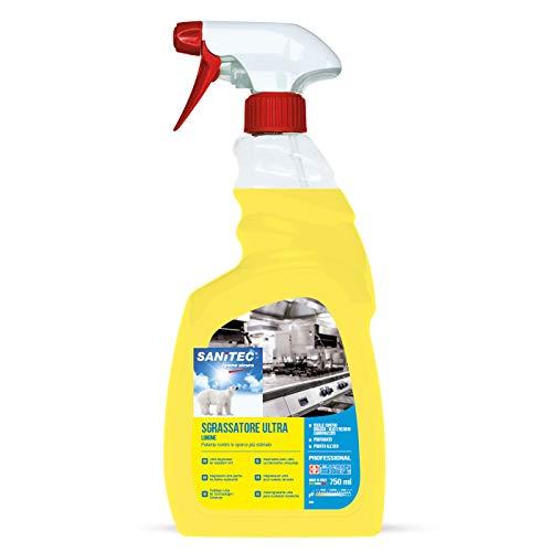 Sanitec Sgrassatore Ultra, Limone, Spray 750 ml