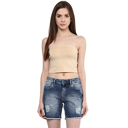 Ajile by Pantaloons Women's Casual Solid Tube Top (205000005588983_Beige_ XL)  available at amazon for Rs.149