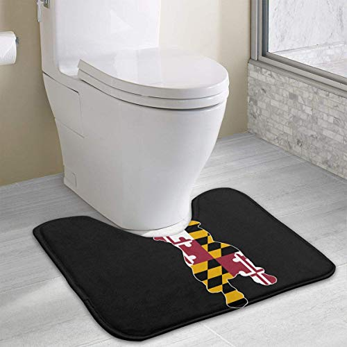 gge in Pitbull U-förmige Toilette Bodenteppich Rutschfeste Toilette Teppiche Badezimmer-Teppich ()