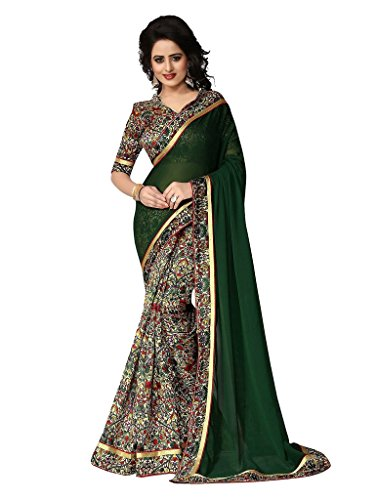 Glory Sarees Georgette Saree (Greenberry_Green)