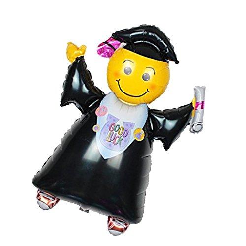 KAIMENG Graduación Globo Graduación Papel de fiesta Suministros de decoración de globos(Grad Globo chico, 102 * 72cm)