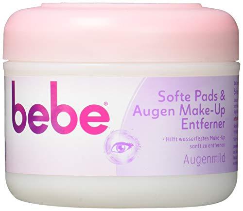 bebe Softe Pads & Augen Make-Up Entferner/Sanfte Abschminkpads für Augen, 30 Stück