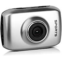 Action Sport Camera 720p HD argento mini videocamera subacquea touchscreen impermeabile Casco Moto Helmet cam Mountain Bike Caccia Surf Canottaggio Paracadutismo Pro Sub Immersioni Scuba Softair Go cart car snowboard Sport