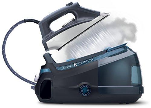 Rowenta Silence Steam Extreme DG8961F0 - Centro de planchado de 6,5 bares, autonomía ilimitada, golpe de vapor 420 g/min, silencioso con suela Microsteam Laser 400, función Eco, calentamiento rápido
