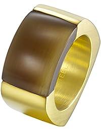 Joop! Damen-Ring Edelstahl Quarz rot Rechteckschliff Gr. 56 (17.8) - JPRG10614B180