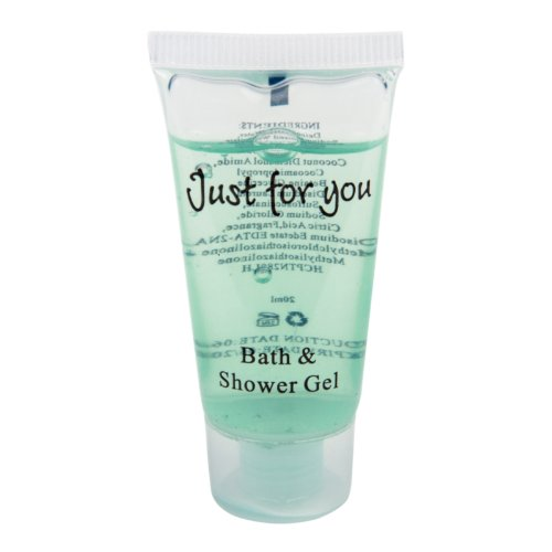 Just for You Bath and Shower Gel Cleanser Beauty Health Personal Care Bath Body Bathroom Home Hotel Guest House Capacity: 20ml. Pack of 100