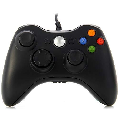 Wenquan,USB 2.0-verdrahtetes Gamepad Integrierter Headset-Anschluss für X-Box 360 / PC/Windows XP / 7(Color:SCHWARZ)