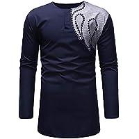 Camisetas para Hombre Camisa de Manga Larga Lujo Estampado de Estilo Nacional Africano Casual Moda Poleras Polo Remeras Streetwear Largo Blusas Gusspower