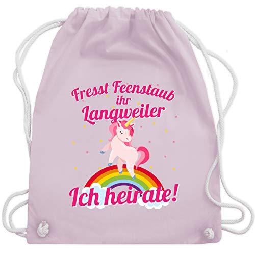 JGA Junggesellinnenabschied - Fresst Feenstaub ihr Langweiler Ich heirate! - Unisize - Pastell Rosa - WM110 - Turnbeutel & Gym Bag