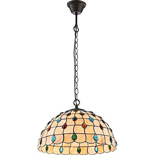 Klassische 1-flg Pendel Hänge Lampe Bronze Antik Lokal Lobby Globo TIFFANY 17003 -