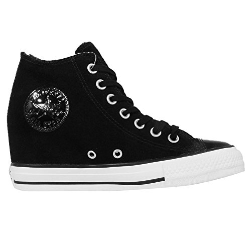Converse - Converse All Star Ct Lux Mid Black Scarpe Sportive Nere Pelle 549558C Nero