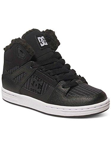 DC Universe Rebound Wnt, Baskets Basses Fille Noir - Black/Black/White