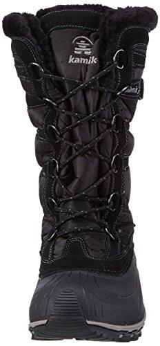 Kamik Snowvalley, Bottes de neige de hauteur moyenne, doublure chaude femme Noir - Schwarz (BK2-BLACK)