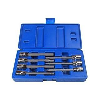 AutoFu Socket Set 7PCS Extra Long HEX BIT Socket Set 3/8