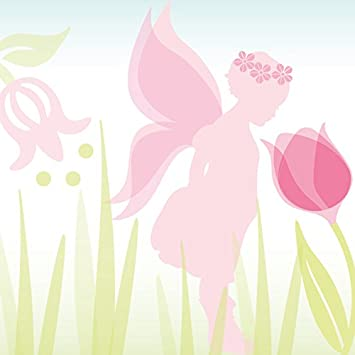 anna wand bordüre selbstklebend lovely fairies - wandbordüre ... - Kinderzimmer Grun Rosa