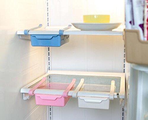 UCTOP STORE multifunktions Kühlschrank Schublade Lagerregal Gefrierschrank Schreibtisch Regal Halter Küche Organisieren (Beige) (Lebensmittel-lagerung-container Bulk)