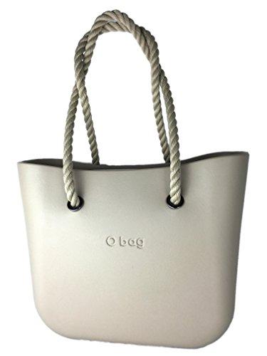 Borsa o bag sacca+manici corda lunghi naturali (no sacca)