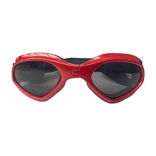 Zhonxnanji Haustier-Glas-Hundekatzen-Glas Skibrille-Haustier-Zusatz-Sonnenbrille faltbar (Color : Red)