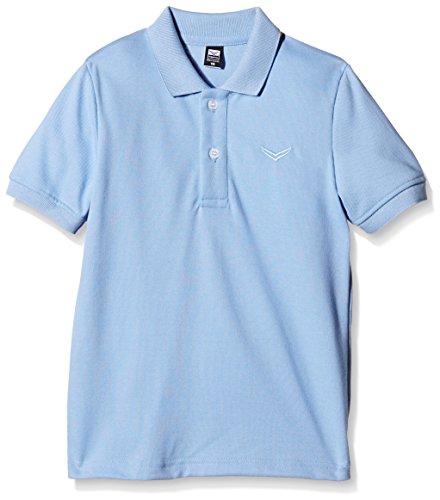Trigema Mädchen Shirt Piqué-Qualität, Polo Mixte Blau (horizont 042)