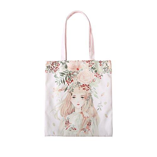 CKH Leinentaschen Studentinnen Mori Abteilung Literarische Schultertasche Mode Freizeit Einkaufstasche Kleine Frische Mädchen Tasche