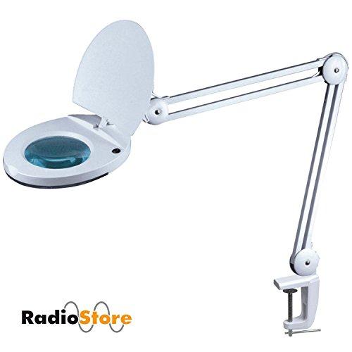 Lampada lente d' ingrandimento LED Radio Store 1113/1115, 3o 5diottrie lente e 48LED SMD, posto di lavoro proiettore/lampada con lente con 48LED SMD super luminosi per cosmetici, Hobby e