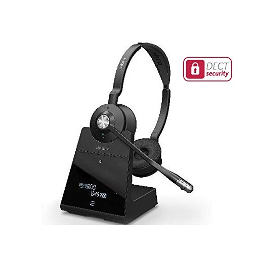 Jabra Engage 75 Stereo Wireless-Profi-Headset mit DECT/Bluetooth  für 5 Endgeräte, mit Ladeschale, Skype for Business Open Office zertifiziert 320 Stereo
