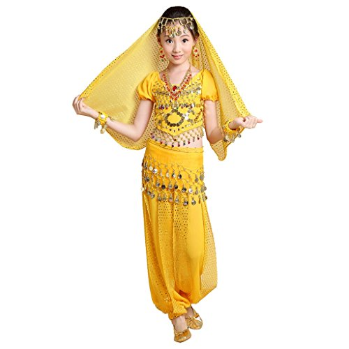 Girl Arabian Kostüm - Best Dance Damen Morgenmantel Gr. XL, gelb