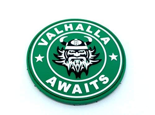 Valhalla Awaits Vikingo Airsoft Paintball PVC Parche