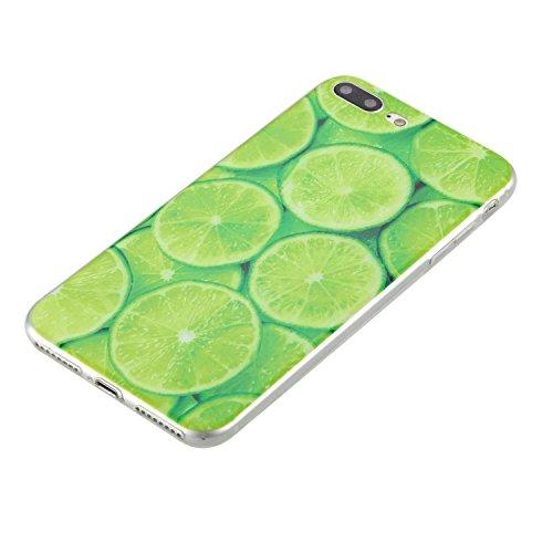 iPhone 7 Plus Coque, iPhone 7 Plus Soft TPU Housse, Cozy Hut® [Liquid Crystal] Case Coque Housse Etui Ultra Hybrid TPU Silicone,[Extrêmement Mince Souple et Flexible] [Peau Transparente] [Shock-Absorp chaux