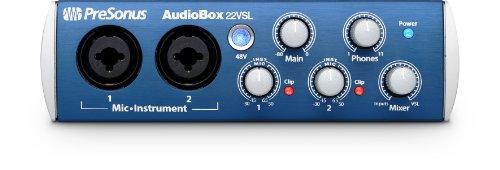 Presonus AudioBox22 VSL - Tarjeta de sonido externa, negro