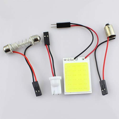 nieliangw0q 4 Watt 12 V COB Chip LED 24 SMD Auto Innenleuchte T10 Girlande Dome Adapter Licht