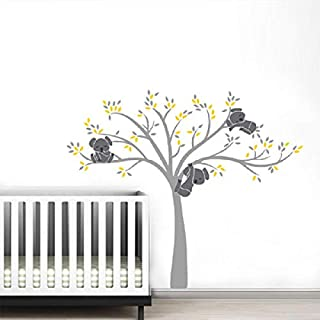 LETAMG Wall Sticker Family On White Tree Branch Vinyls Wall Stickers Nursery Decals Art Removable Mural Baby Children Room Sticker Home Decor