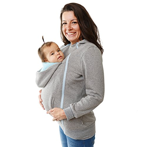 Babywearing Hoodie 3in1 Maternity Jumper& Front Carrying jacket From Soft Fleece