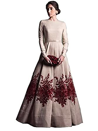 Royal Export Women's Embroidered Gown (White)
