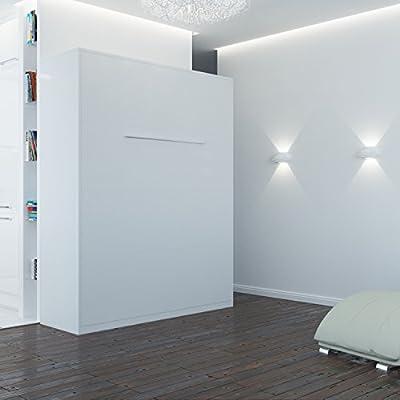 SMARTBett Cama plegable 160 x 200 cm vertical resortes de gas cama plegable & cama de pared sin colchón