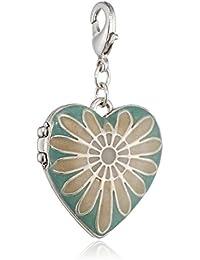 Pilgrim Jewelry Damen-Anhänger aus der Serie Mega Charm versilbert türkis 5.0 cm 411316205