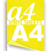 JasonCarlMorgan A4 Neon Yellow 297x210mm 1x Flex Iron On Transfer Paper Clothing Garment Vinyl