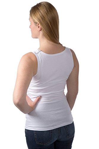 Damen Nursing Still-Tanktop, Top, Hemd, Shirt Unterwäsche/ Unterhemd weiß (white)