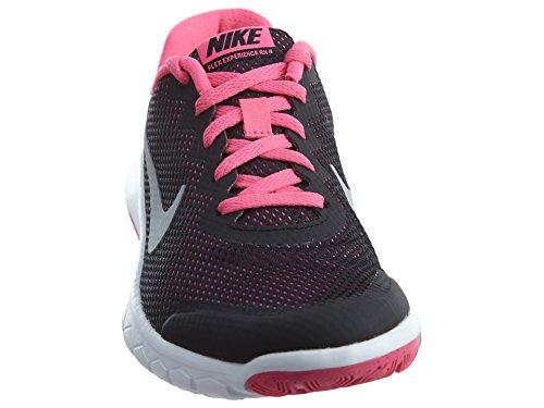 Nike Flex Experience 4 (Gs) Scarpe Sportive, Ragazza Black/PK/WH