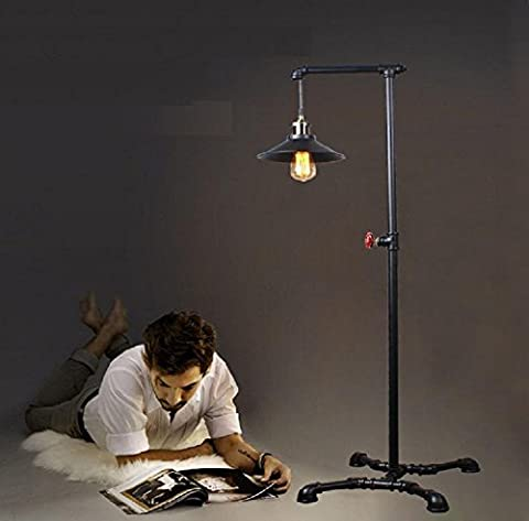 H&M Old Industrial Retro Floor Lamps Water Pipe Style Plumbing