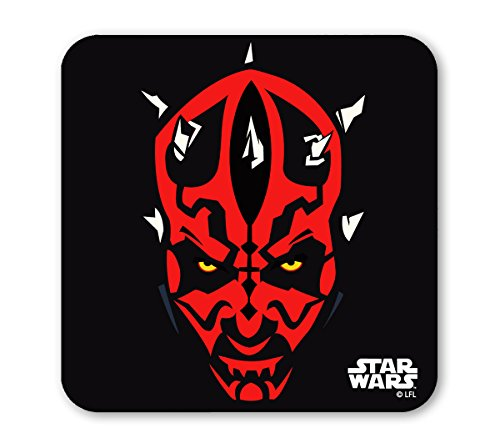 LOGOSHIRT - Guerra de las Galaxias Posavasos - Star Wars Coaster - Darth Maul - coloreado - Diseño original con licencia