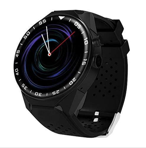 Smart Watch, Fitness Tracker Wasserdichter Smartwatch-Farbbildschirm mit Pulsmesser, Aktivitäts-Tracker-Schrittzähler-Schlafmonitor SMS-Anrufbenachrichtigung für Android 5.1,Black