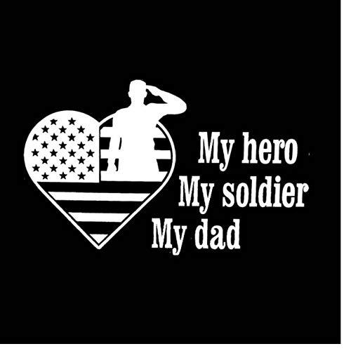 Wymw 5 Stücke 15 * 9,2 Cm My Hero Mein Soldat Mein Vater Amerikanischen Traum Den Körper Krieger Auto Aufkleber Aufkleber Vinyl